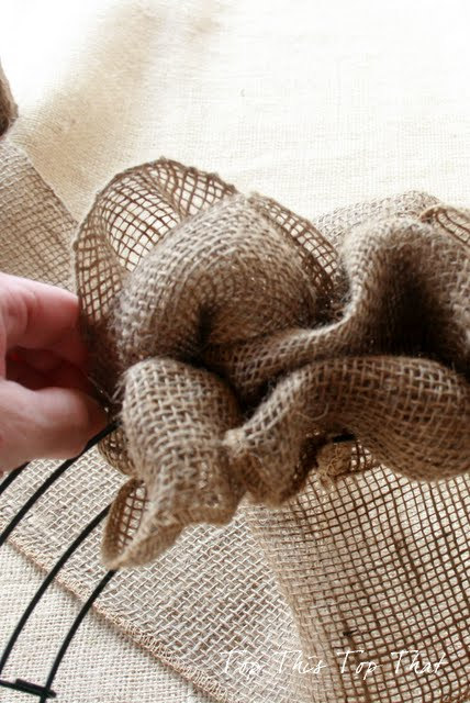 burlap wreath tutorial from top this top that