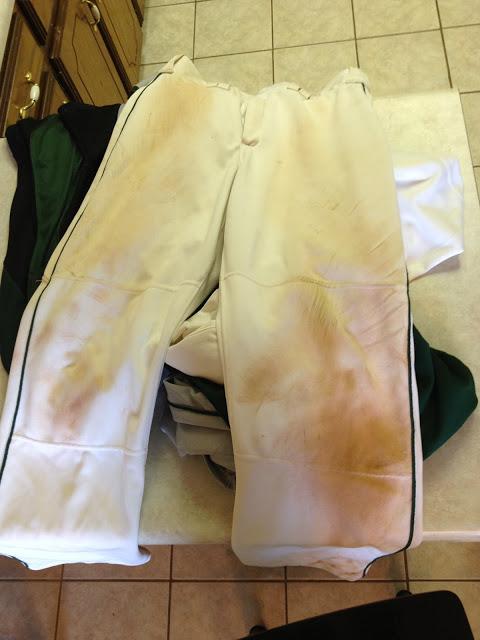 red dirt on white baseball pants