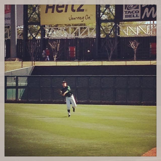 my boy playing baseball