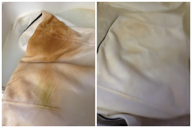 removing red dirt stains from white baseball pants