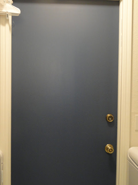 navy blue painted door