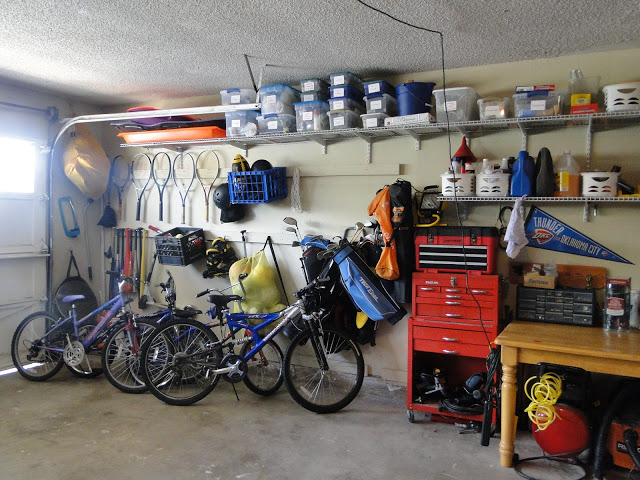 bikes and sports storage for the garage