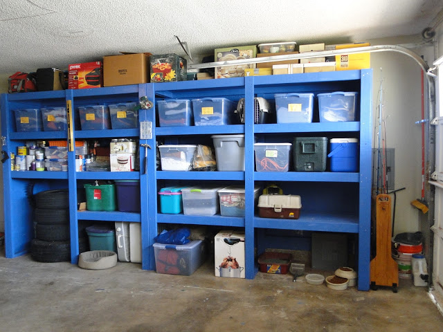 Shelves for garage storage