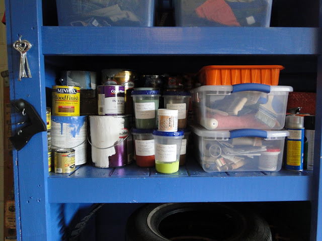 paint and paint supply storage