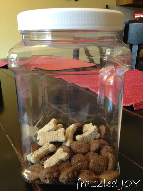 dog treat storage