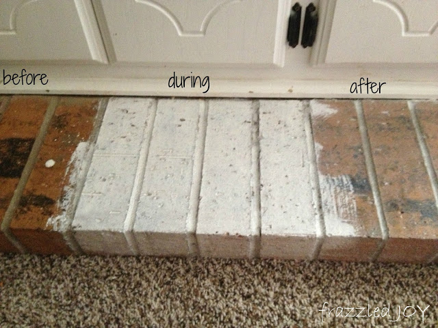 white washing brick