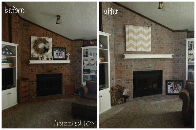 white washed brick before and after