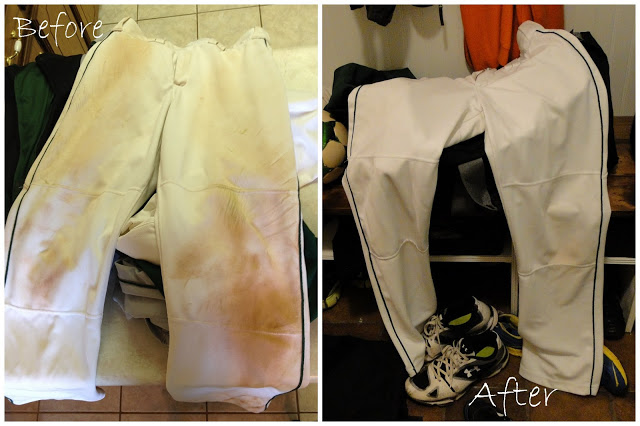 How to remove red dirt stains from white baseball pants