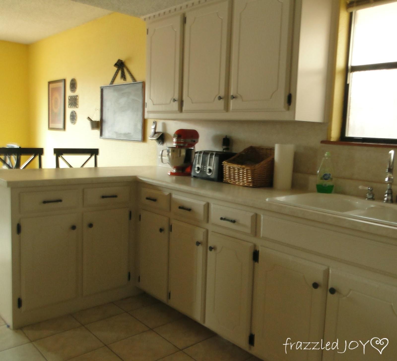 Kitchen Cabinet Update frazzled JOY