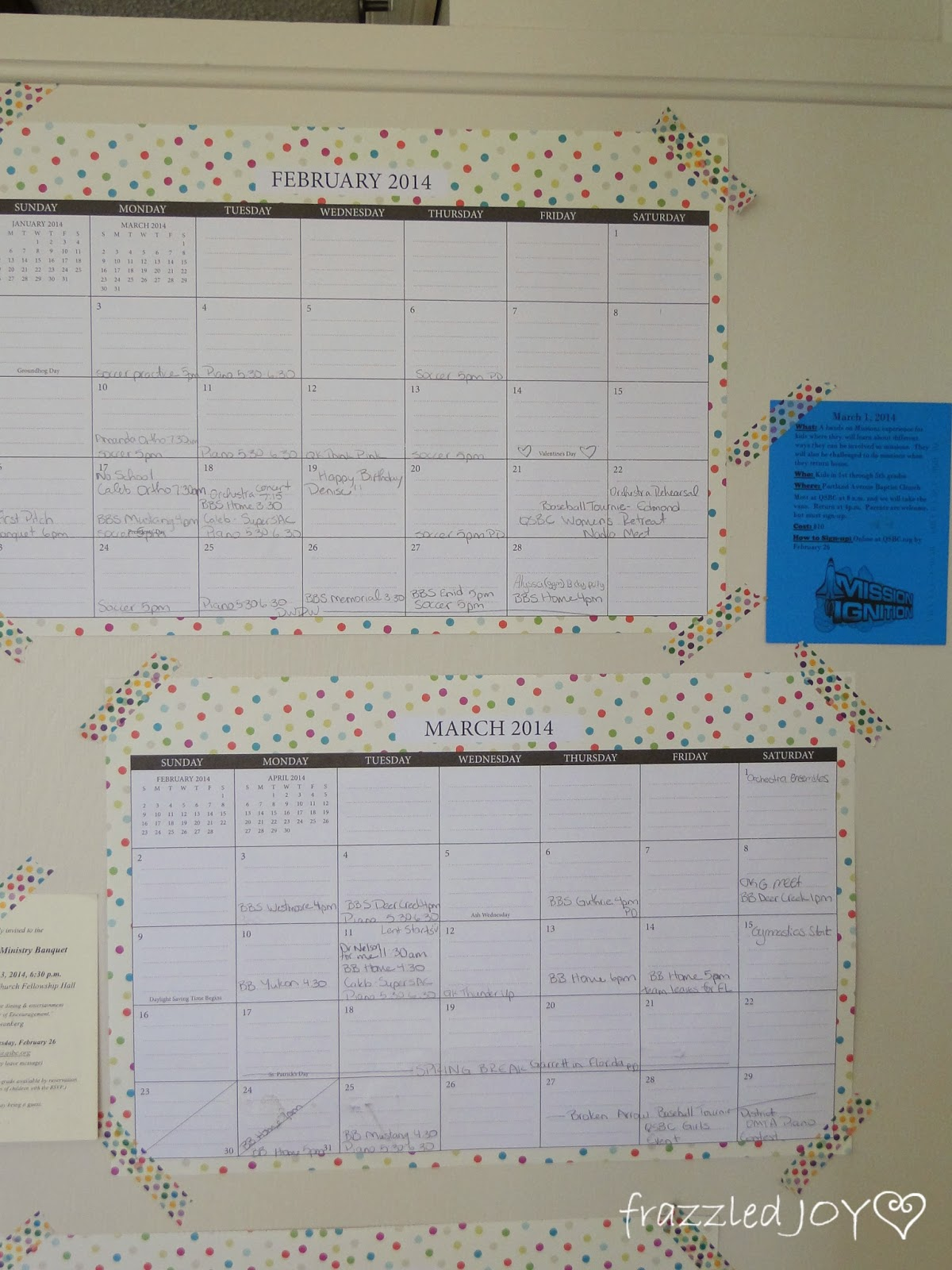Wall calendars are a great way to keep up with the family schedule.