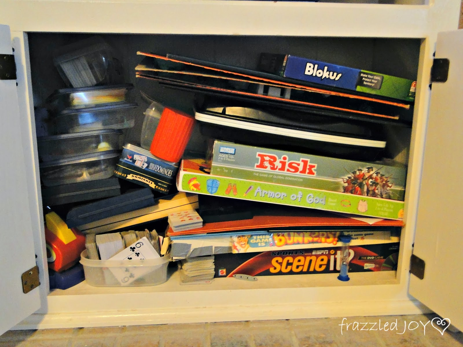game cabinet before
