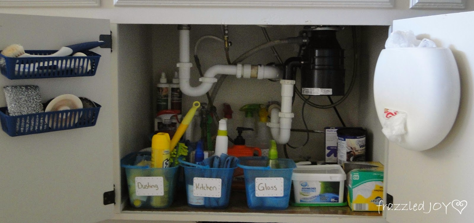 Inexpensive under kitchen sink organization