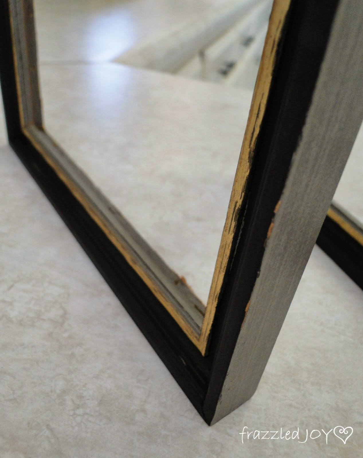 frame updated with black paint and rub n buff