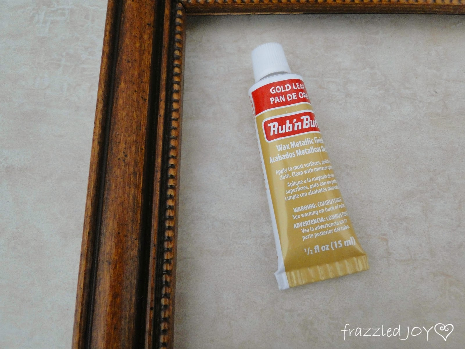 rub n buff for wood frame accent