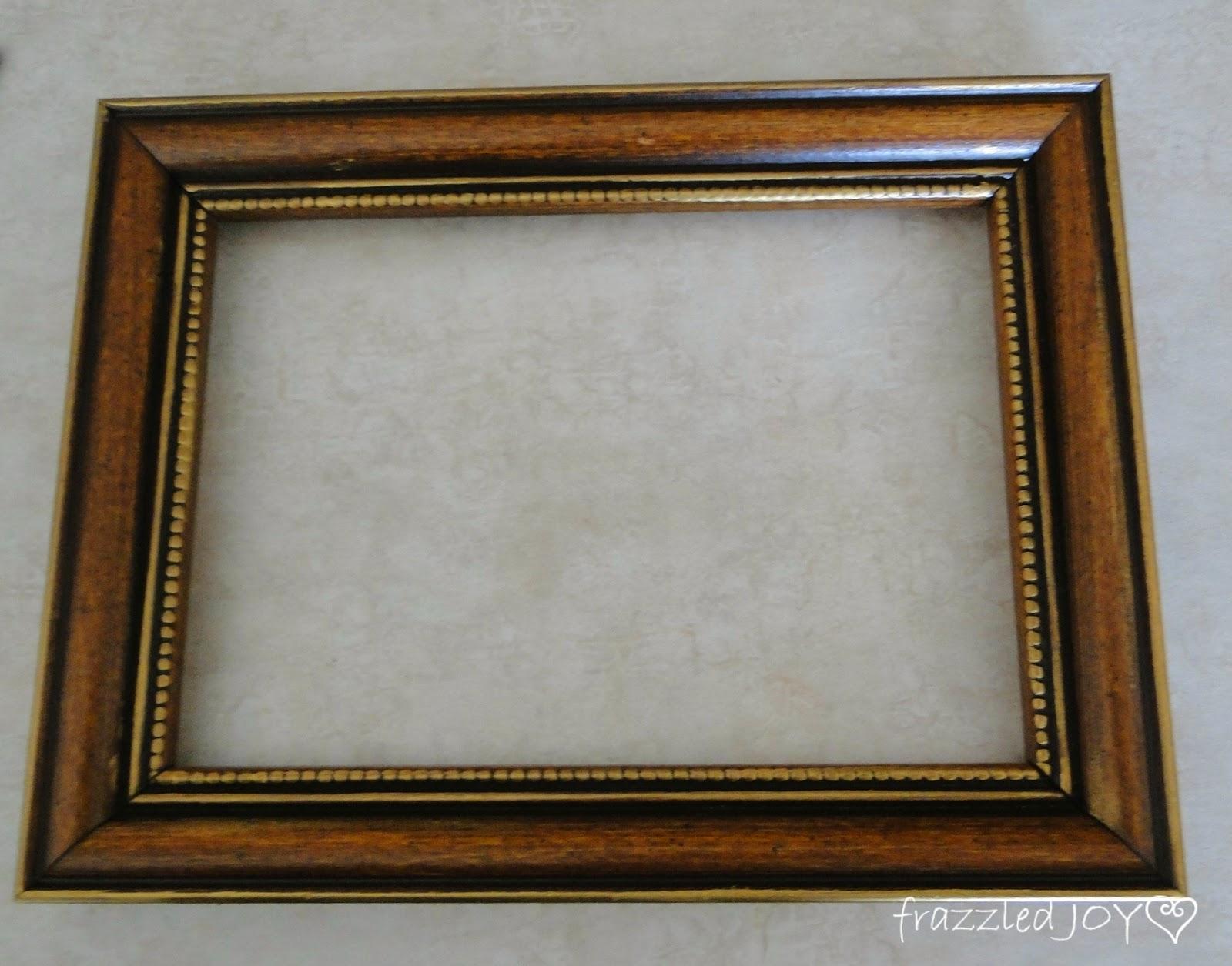 wood frame updated with rub n buff