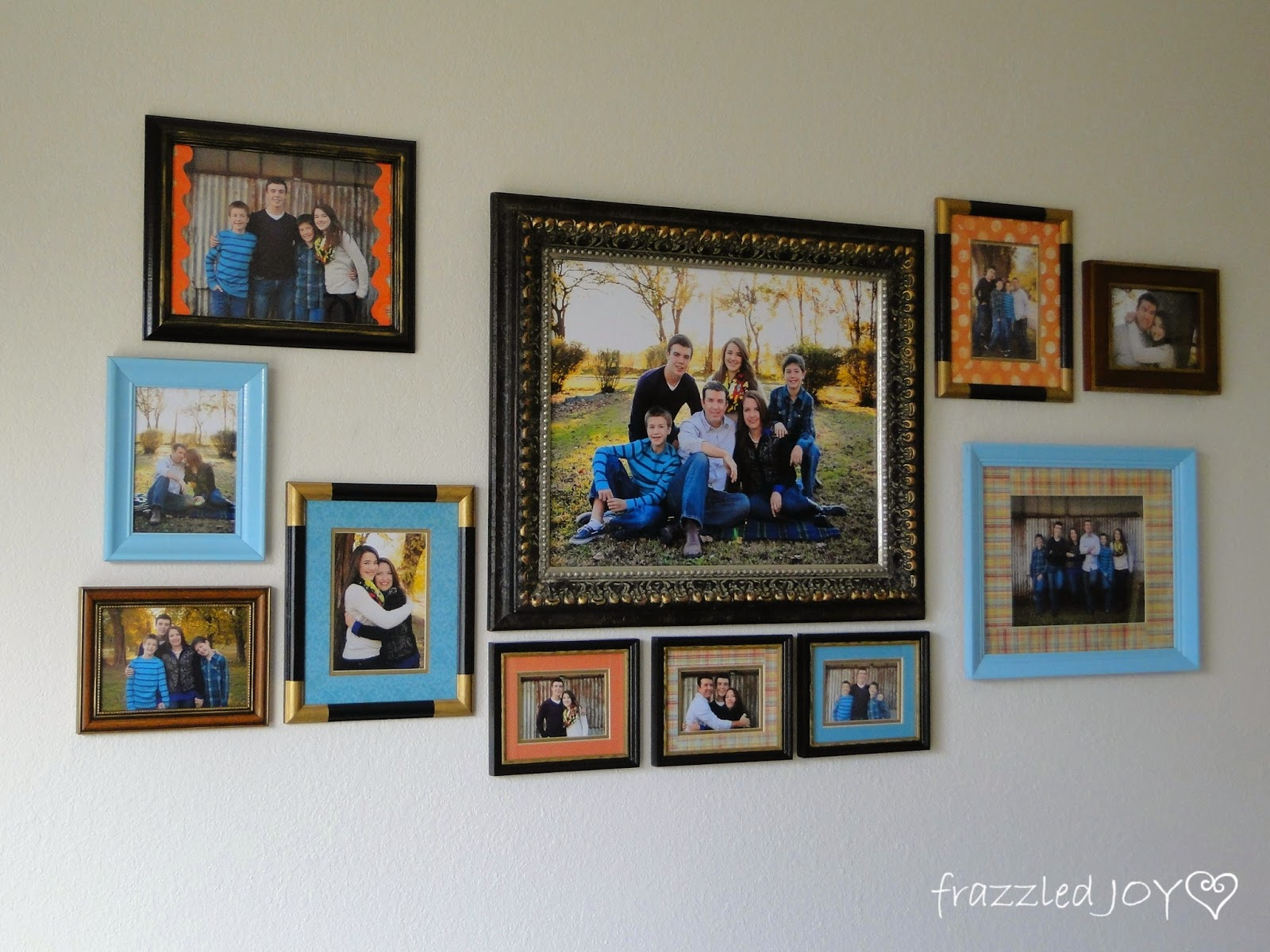 thrifted frames for a gallery wall