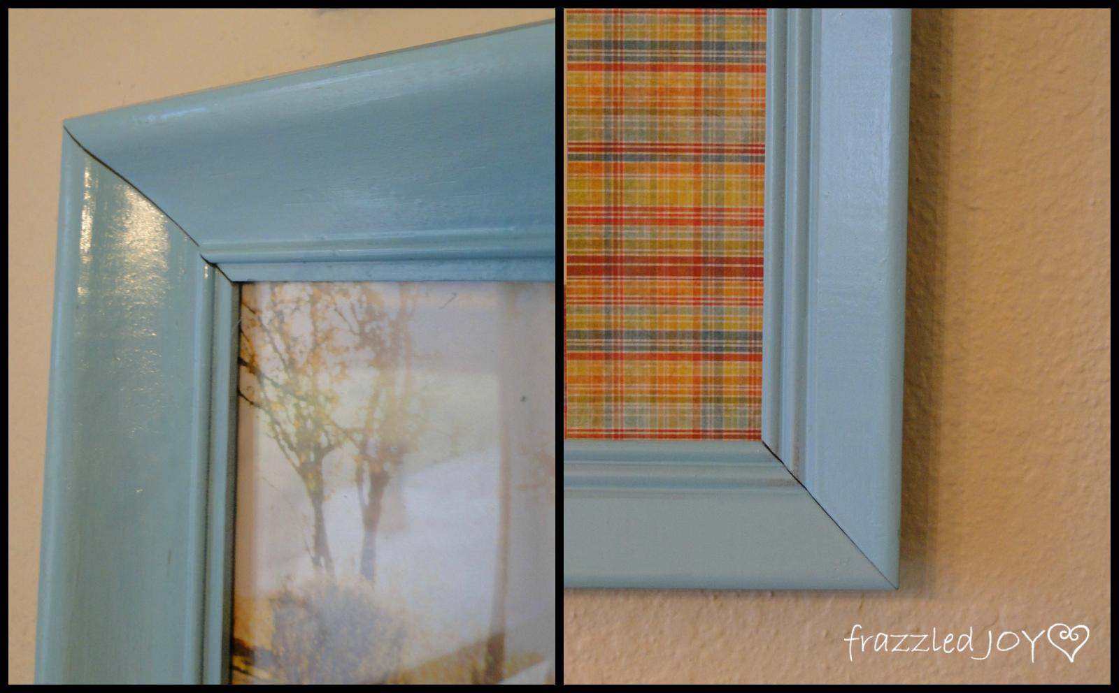 spray paint thrifted frame