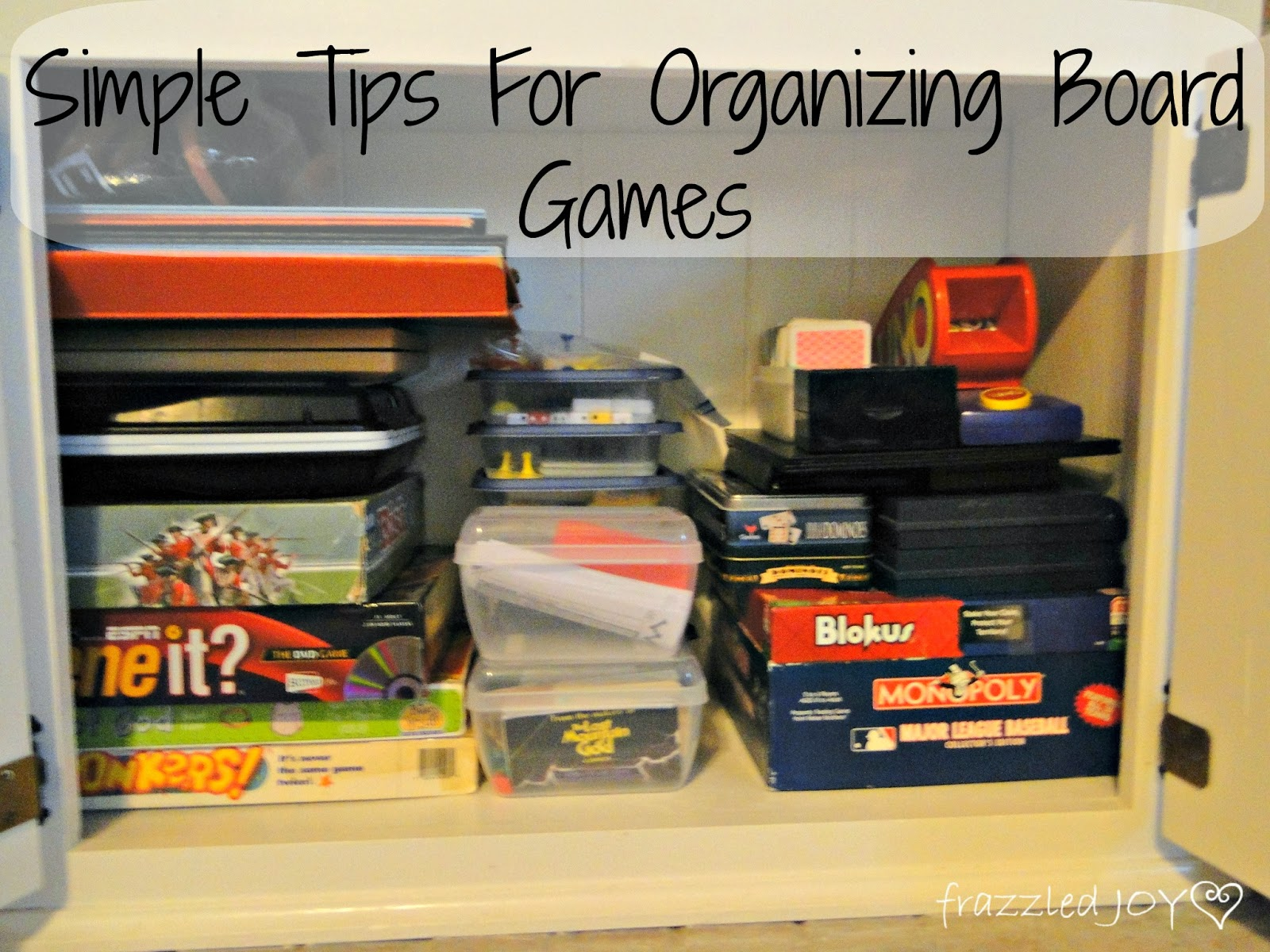 Simple tips for organizing board games