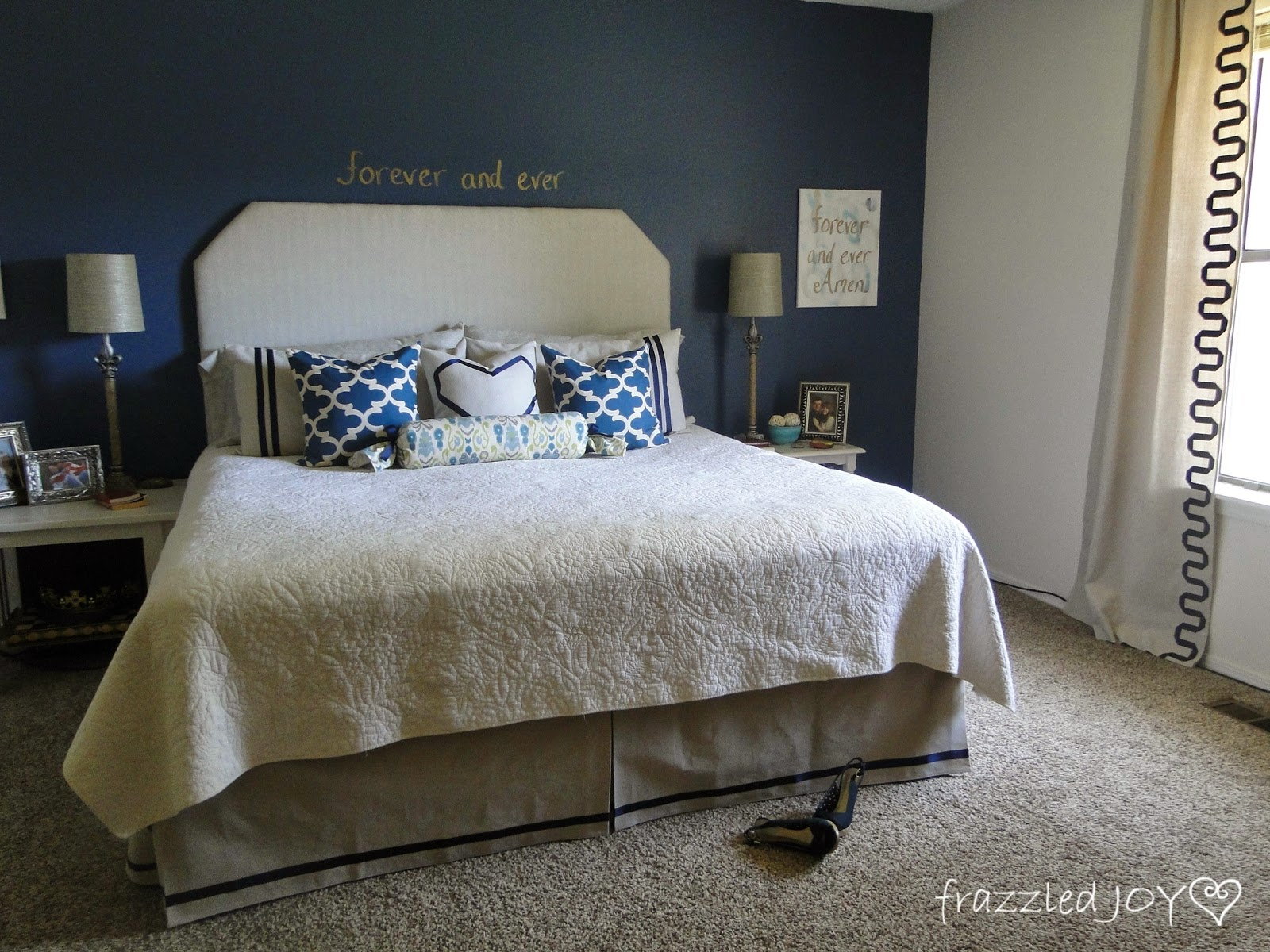 Master Bedroom Reveal One Room Challenge Done Frazzled Joy