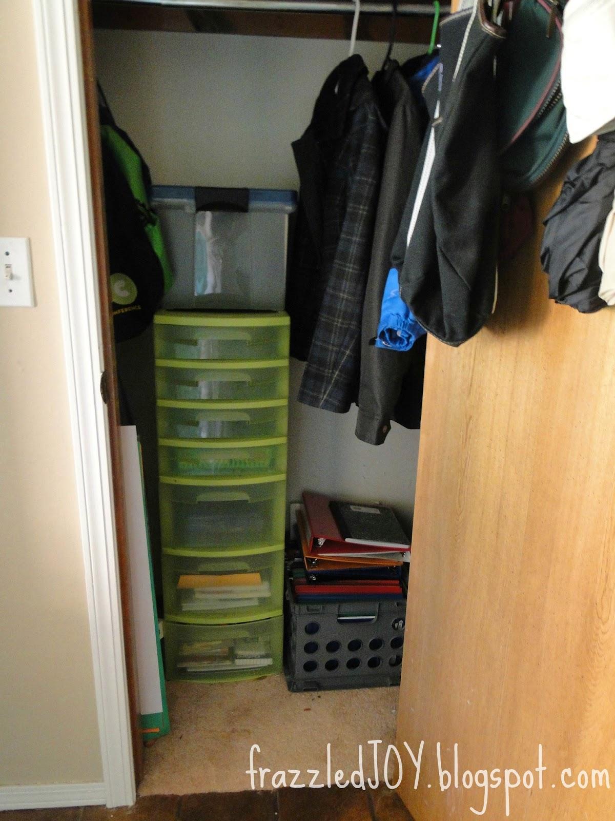 entryway closet storage