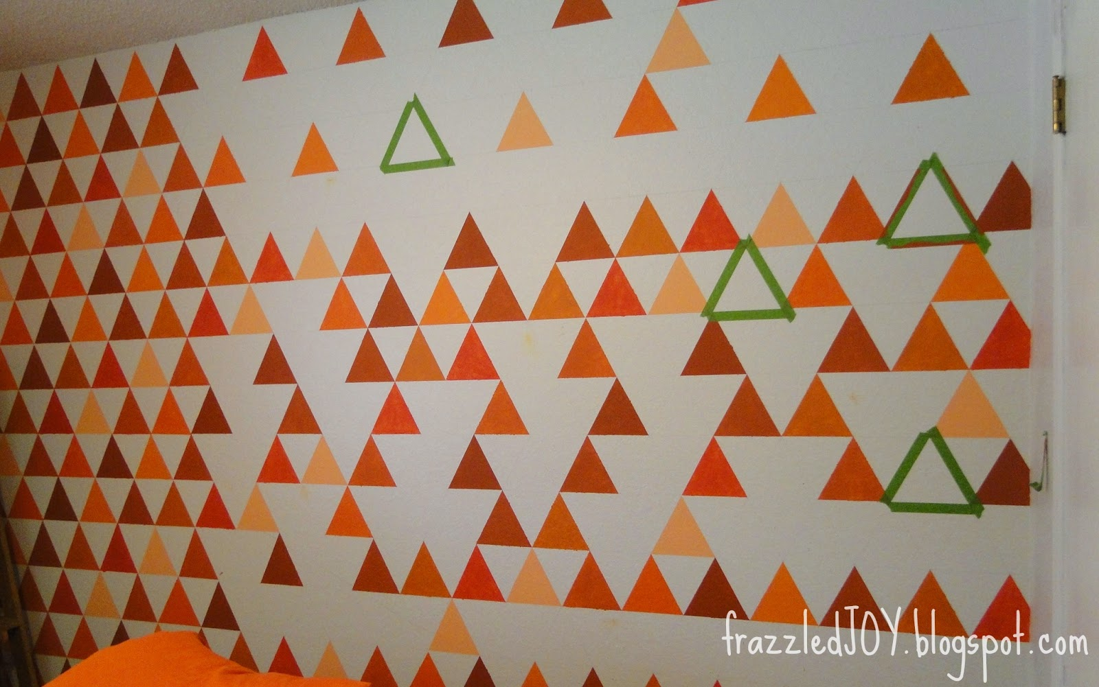 painting a triangle feature wall