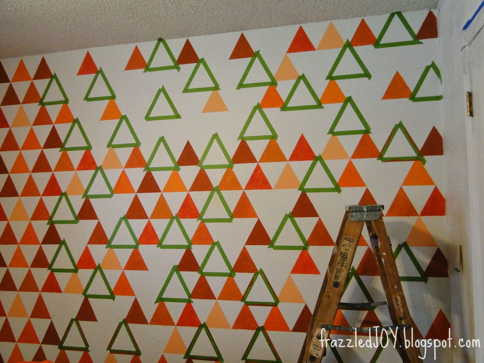 painting triangles on a wall