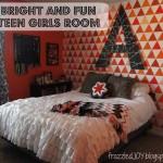bright and fun teen girls room