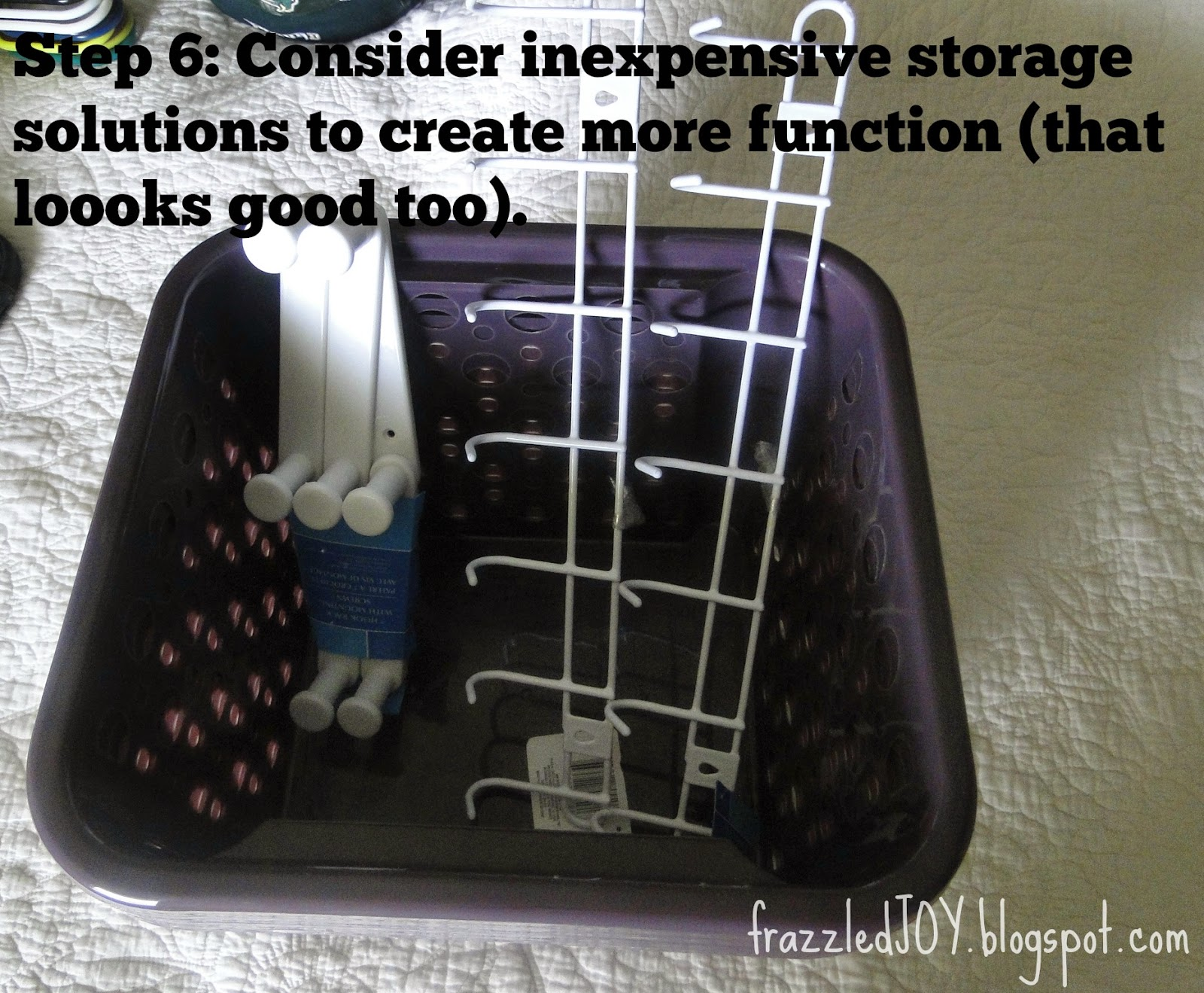 Dollar Tree closet storage items