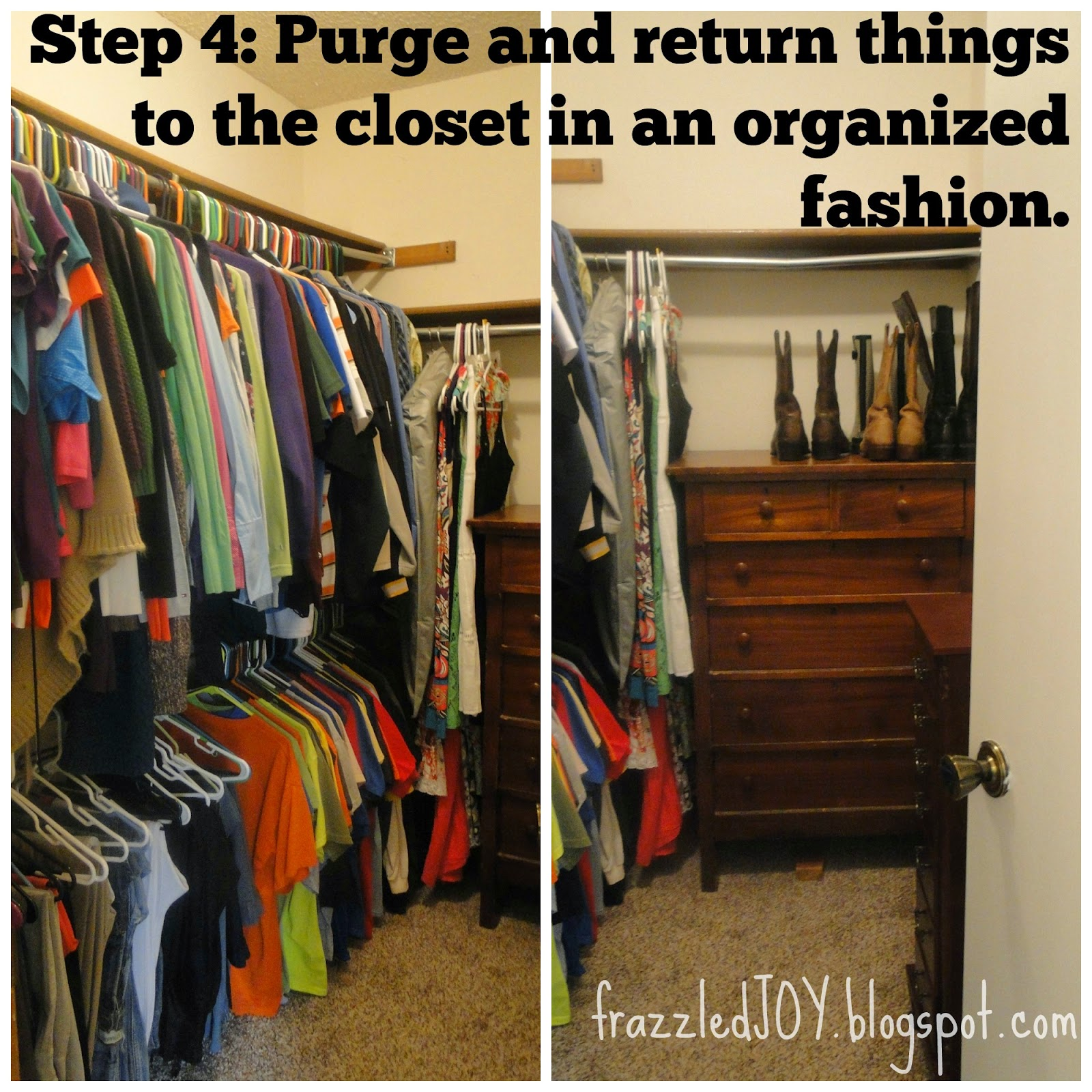 Organizing a small walk-in closet