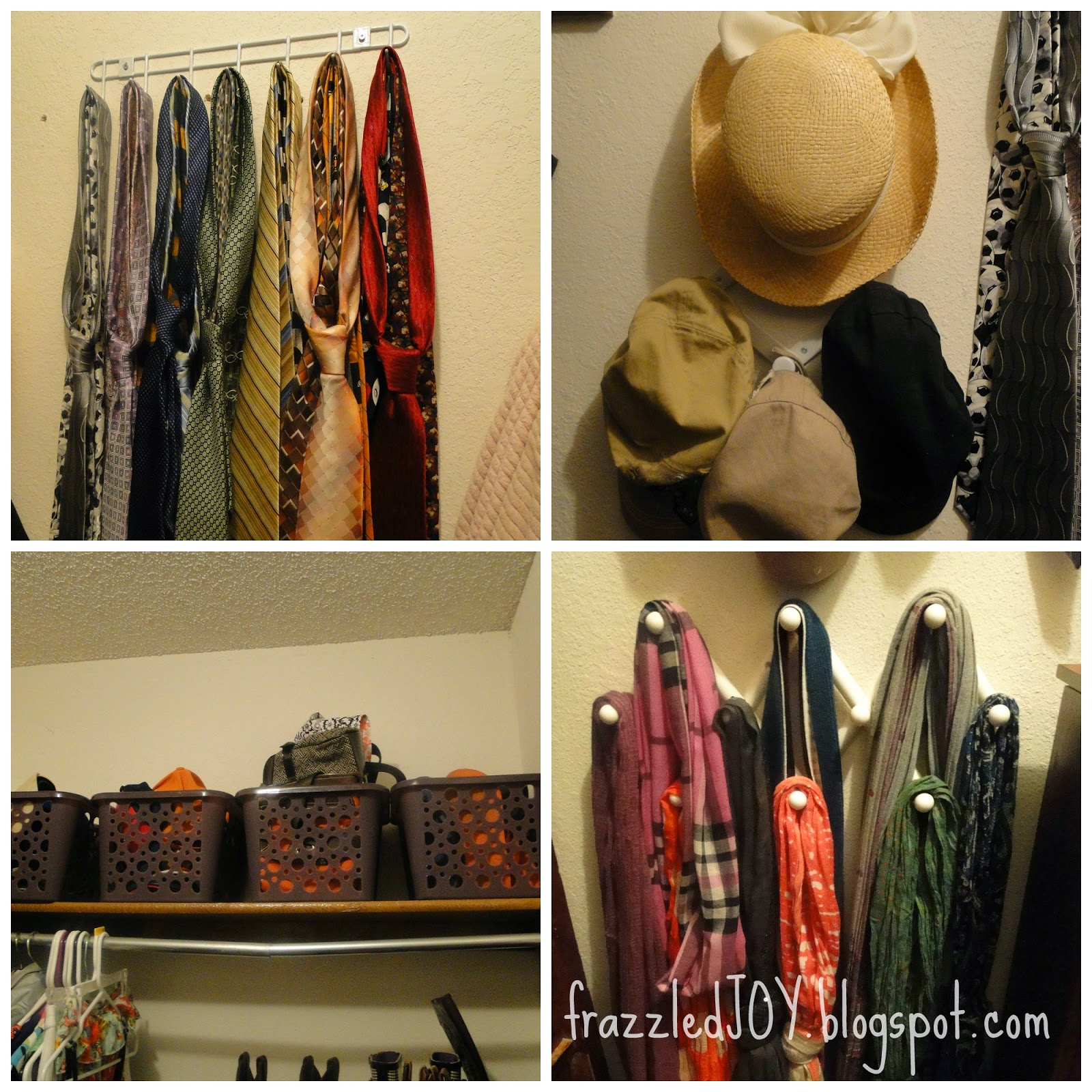 Small walk-in closet storage solutions.