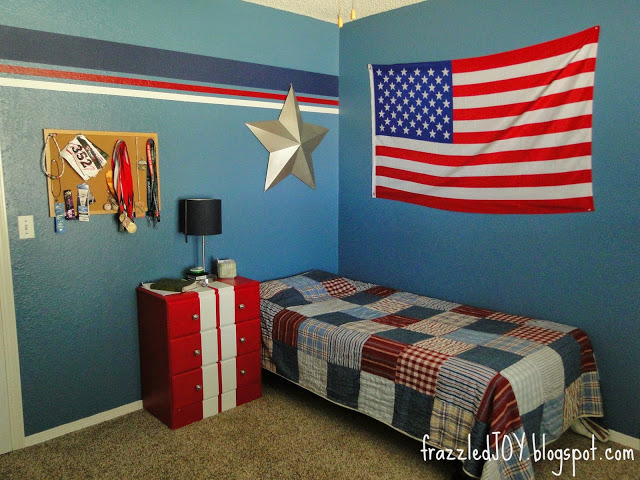 USA themed bedroom