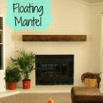 DIY floating mantel