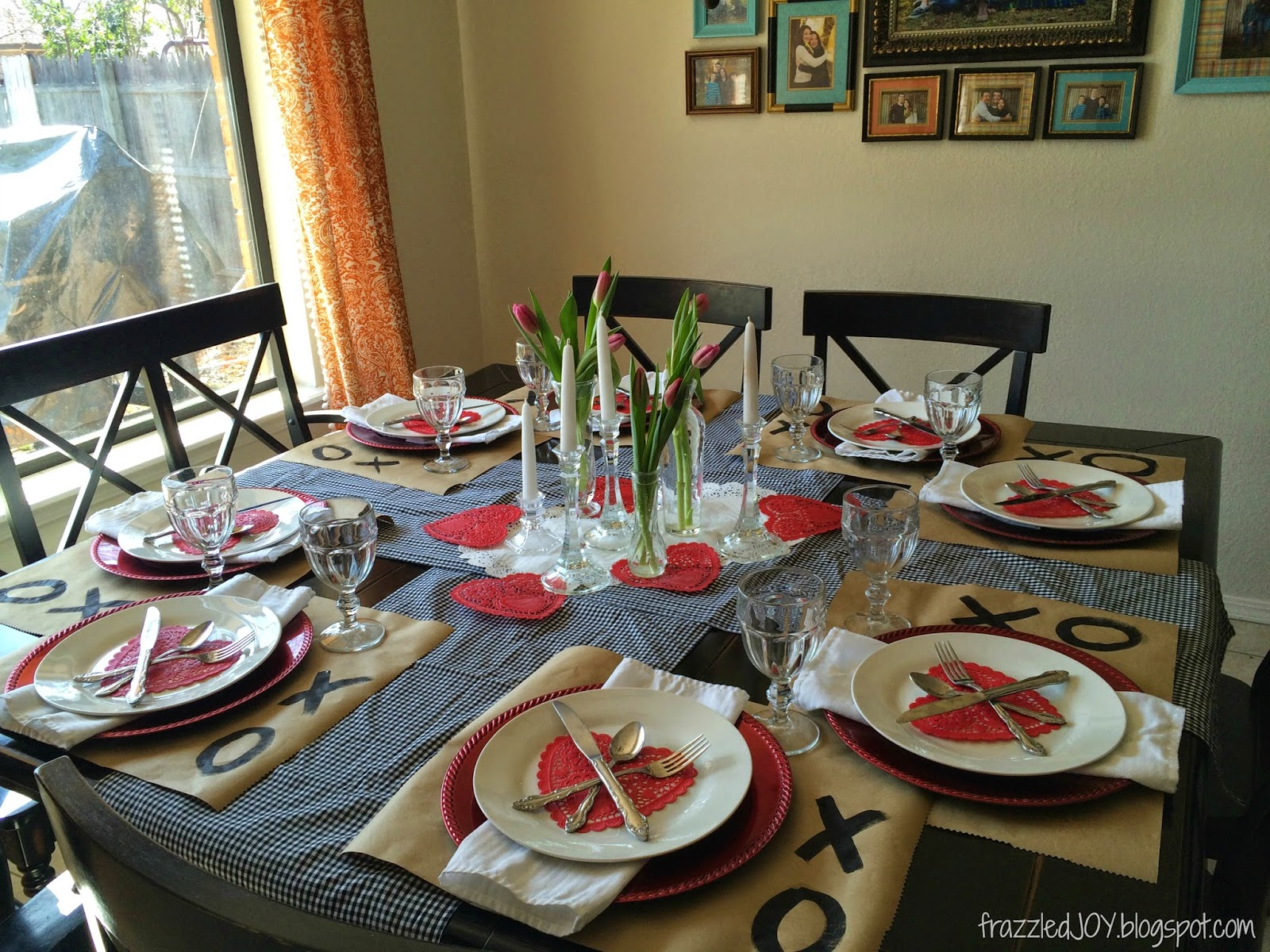 dining room archives frazzled joy valentine s day table