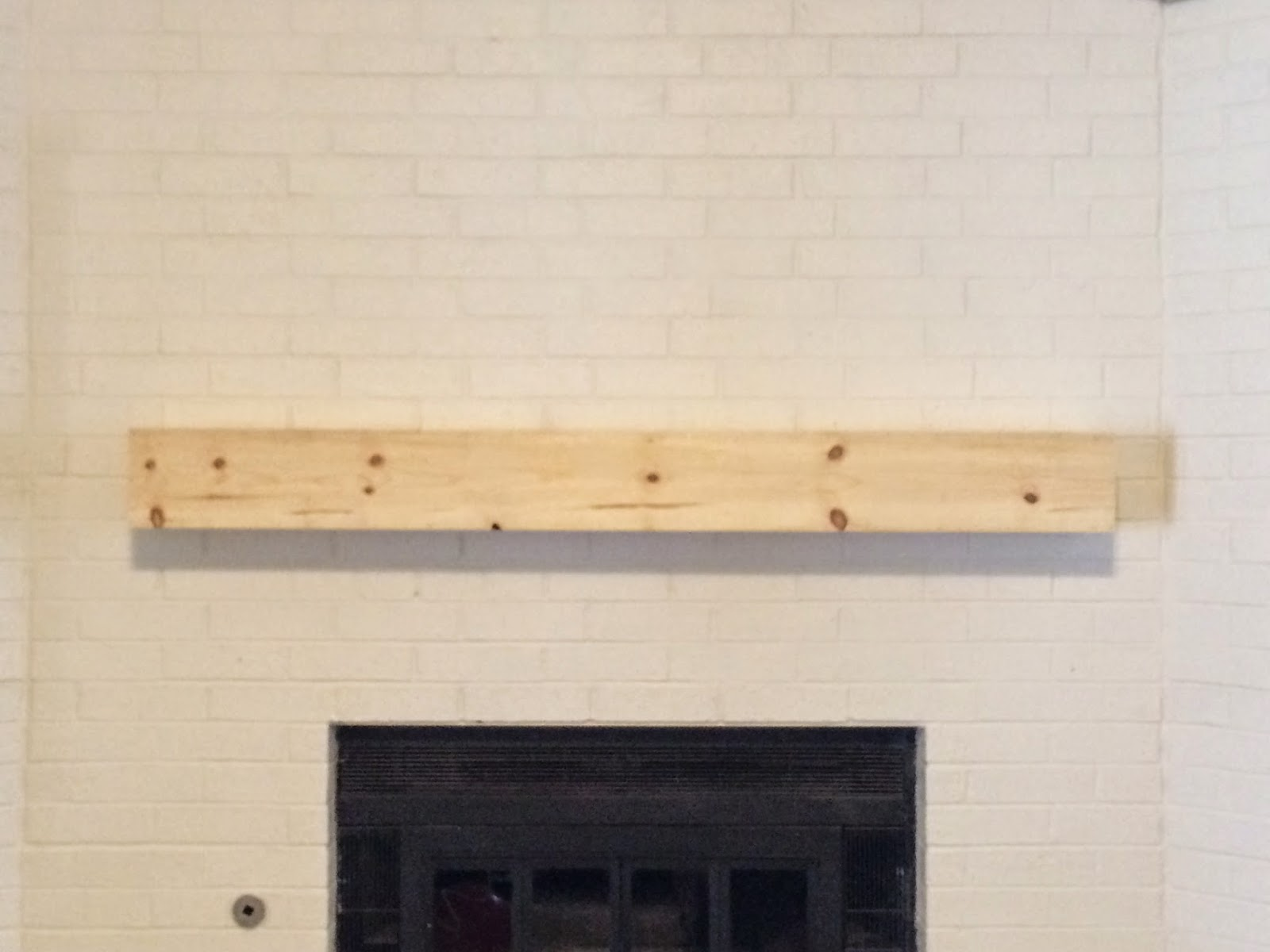 floating mantel installed
