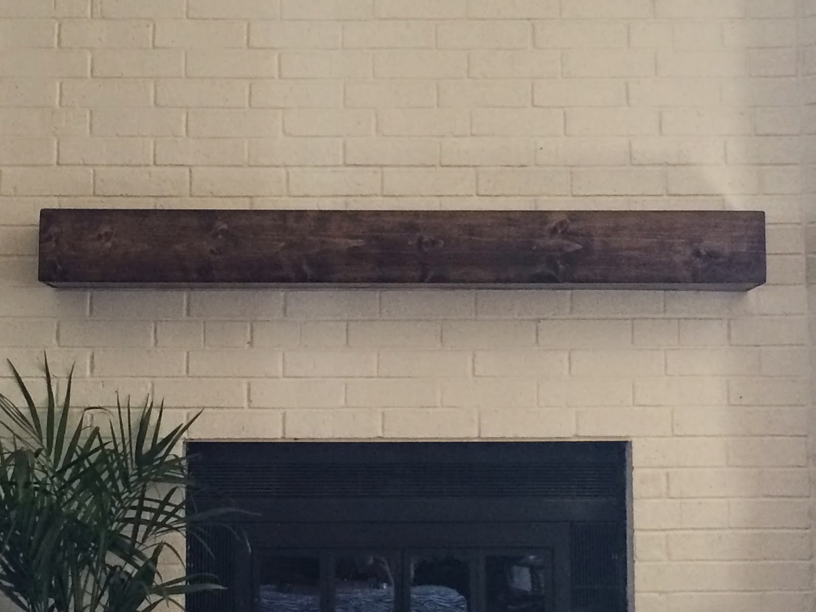 floating wood mantel