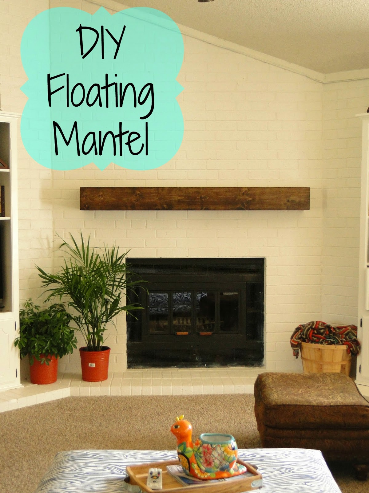 DIY floating mantel