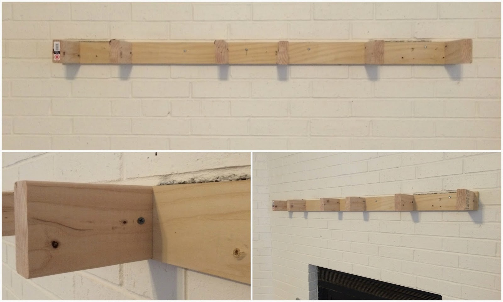 Attaching A Floating Mantel To Brick