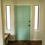 Stenciled Entryway