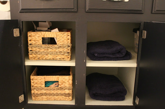 bathroom storage and organization