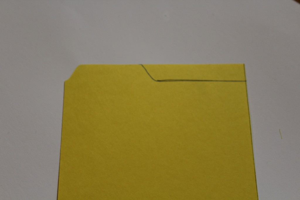 how to make a tab for DVD index dividers