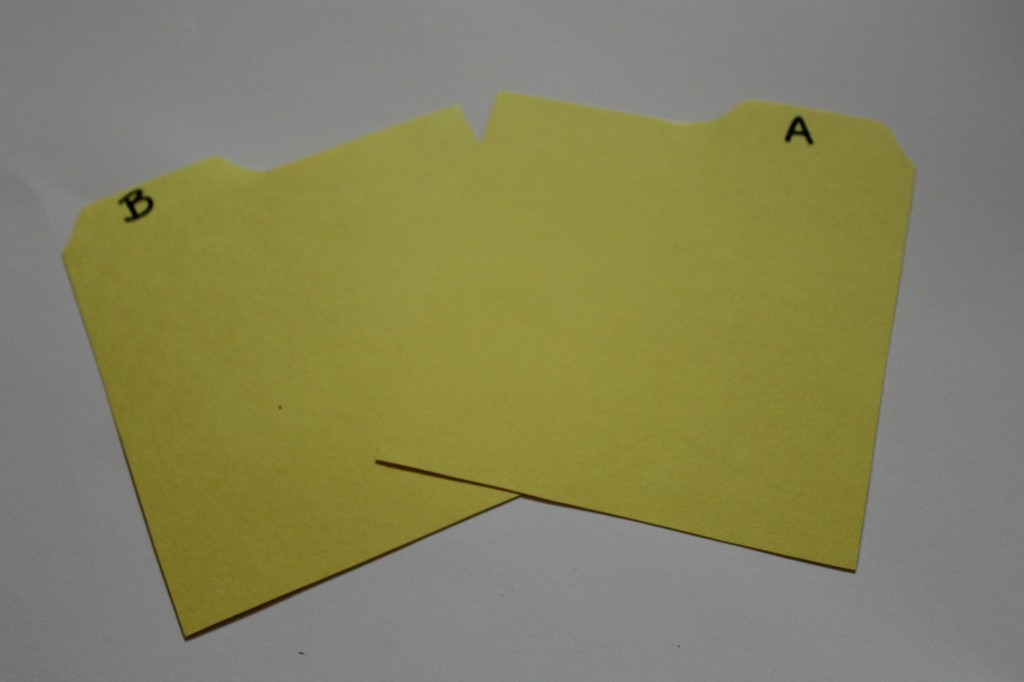 labeling DVD index dividers