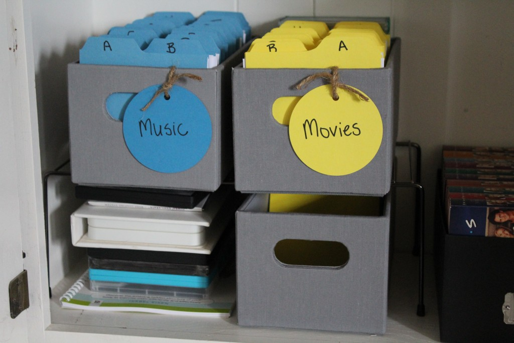 Organized music and movies