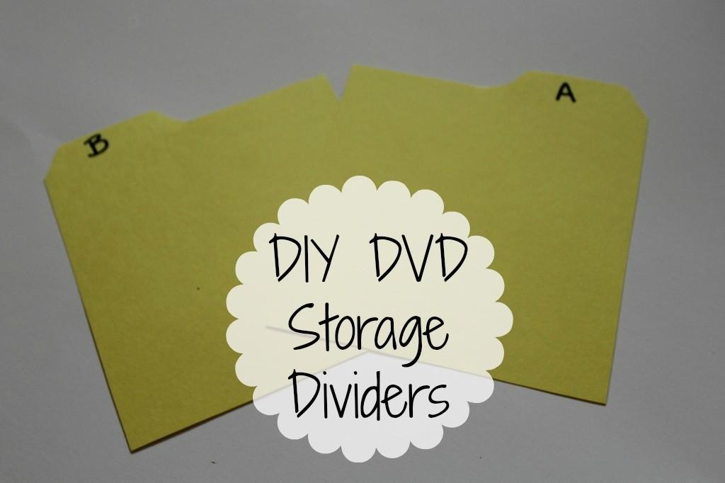 DIY DVD storage dividers