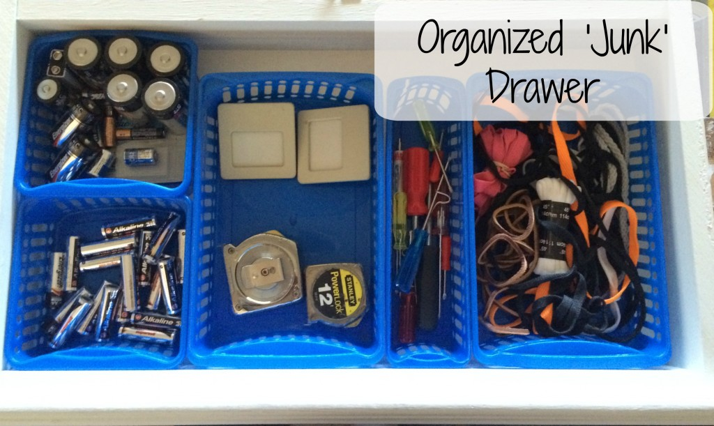 Organized 'junk' drawer