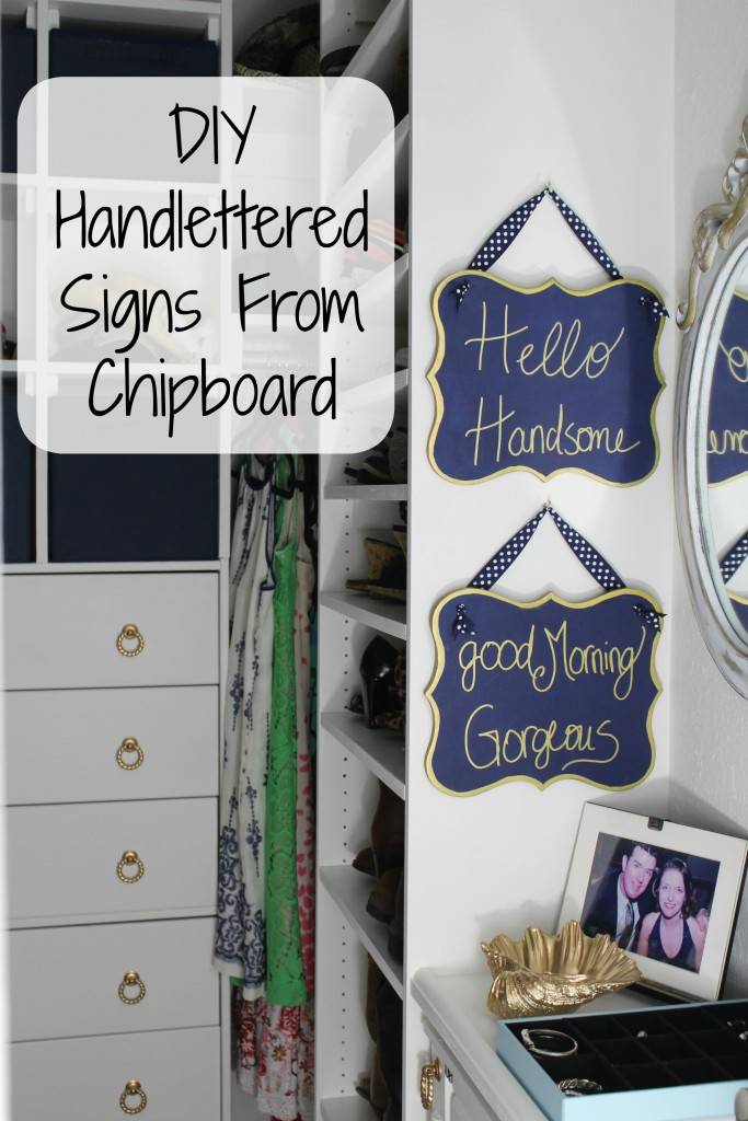 DIY Handlettered Signs From Chipboard