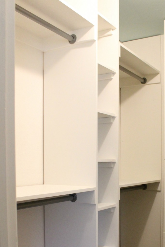 DIY built-ins for closet