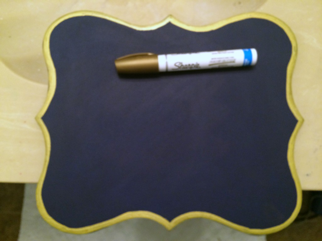 water based gold sharpie paint marker for edges