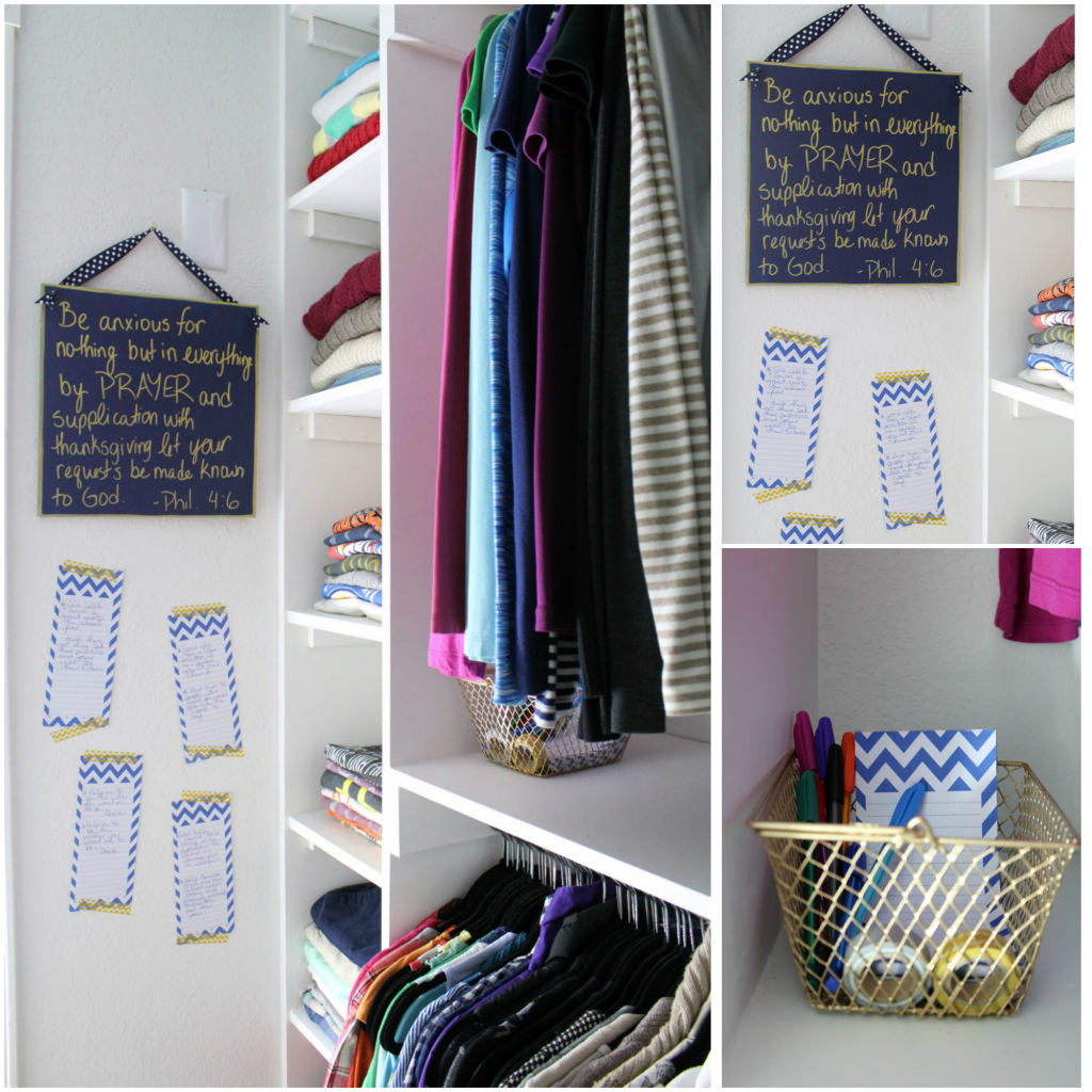 prayer corner in closet
