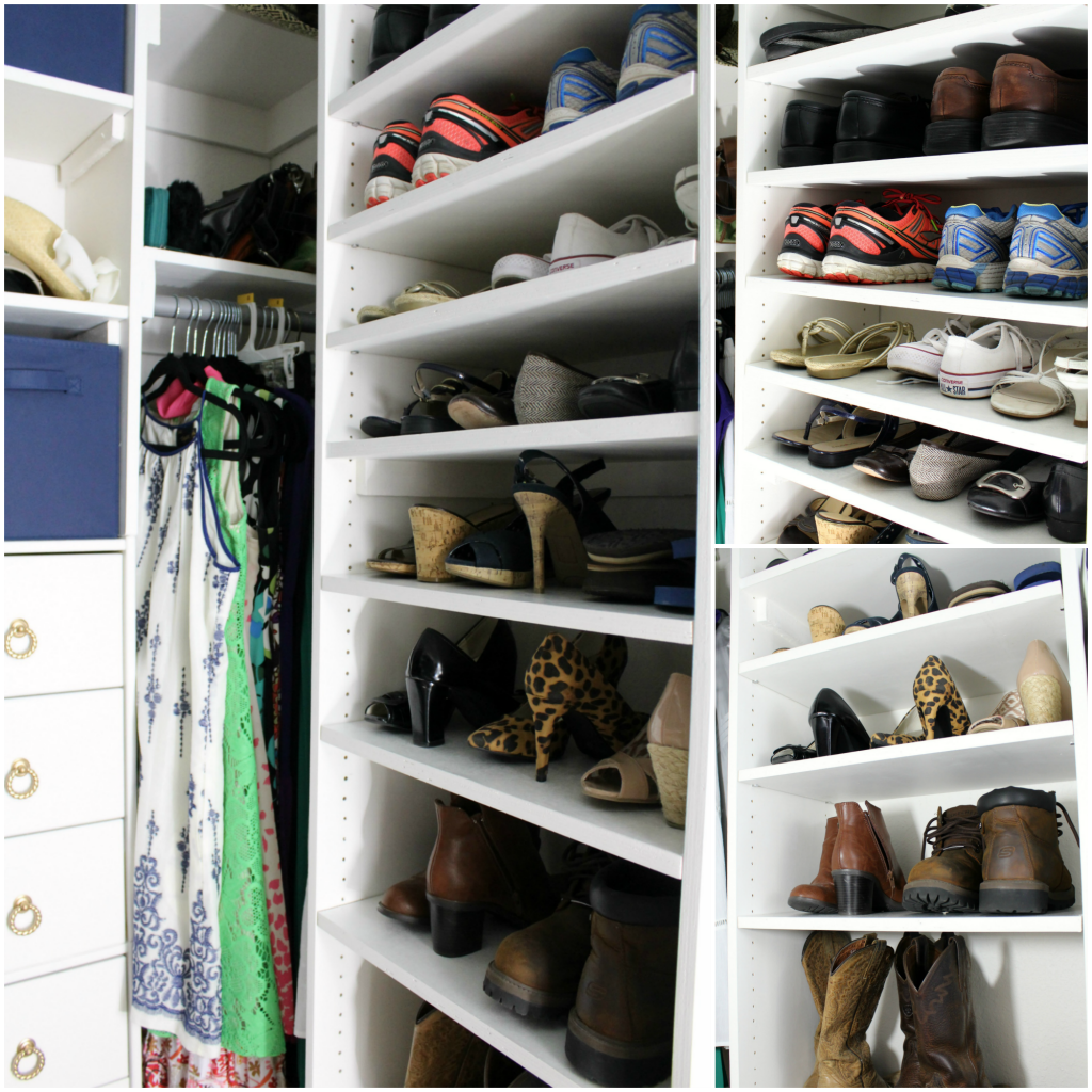 DIY shoe shelves
