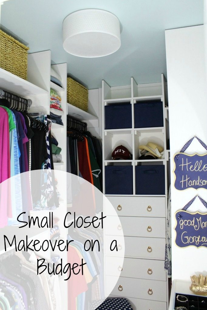 small cloest makeover on a budget